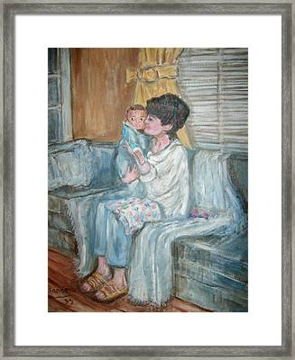 Mother And Child R Framed Print by Joseph Sandora Jr