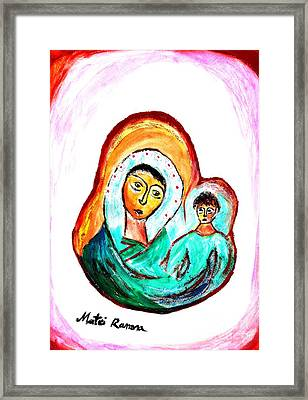 Mother And Child Framed Print by Ramona Matei