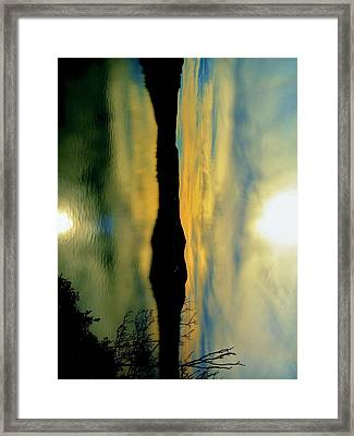 Mother And Child Reflected Framed Print by SeVen Sumet