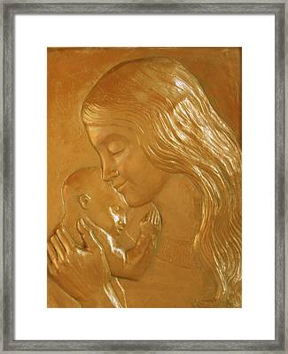 Mother And Child Relief  Framed Print