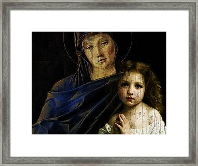 Framed Print featuring the mixed media Mother And Child Reunion  by Paul Lovering