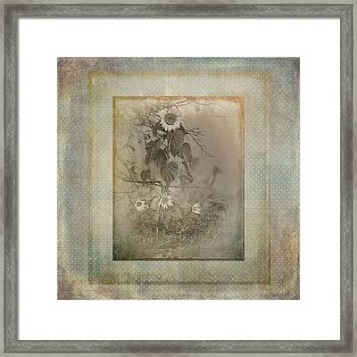Mother And Child Reunion Vintage Frame Framed Print