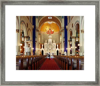 Mother And Child - San Francisco, California Framed Print by Darin Volpe