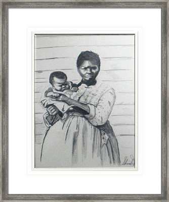 Mother And Child Framed Print by Sharon West