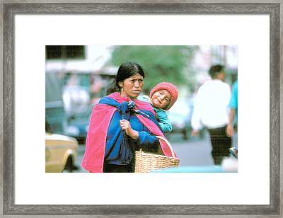 Framed Print featuring the photograph Mother And Daughter Ecuador by Douglas Pike