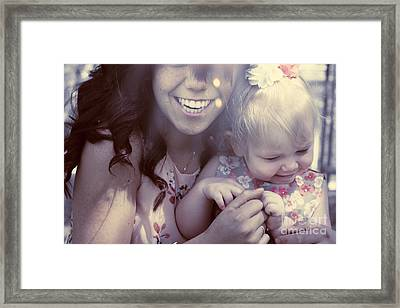 Mother And Daughter Laughing Together Outdoors Framed Print by Jorgo Photography - Wall Art Gallery