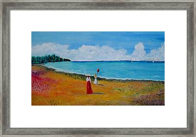 Framed Print featuring the painting Mother And Daughter by Marilyn  McNish