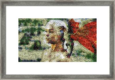 Mother And Her Dragon Framed Print