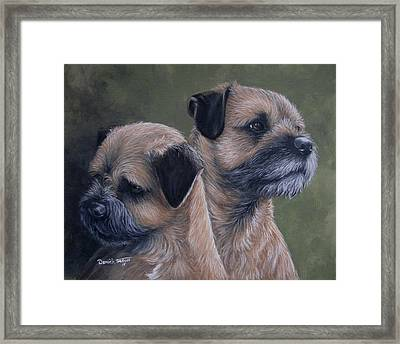 Mother And Son Framed Print by Daniele Trottier