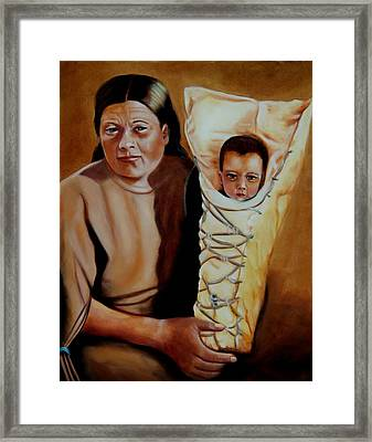 Mother And Son Framed Print by Joni McPherson