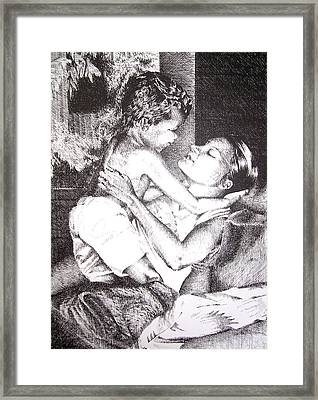 Mother And Son Framed Print by Kathleen Romana