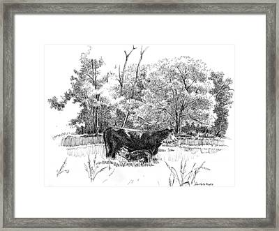 Mother And Son Framed Print by Peter Muzyka