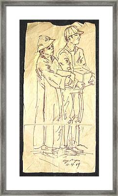 Mother And Son Framed Print by Radical Reconstruction Fine Art Featuring Nancy Wood