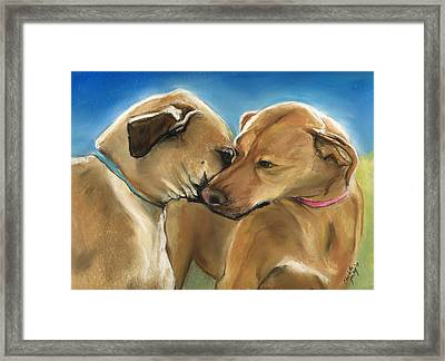 Mother And Son Reunion Framed Print