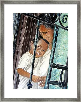 Mother And Son Framed Print by Sarah Hornsby
