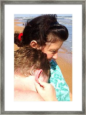 Mother And Son Framed Print by Scarlett Royal