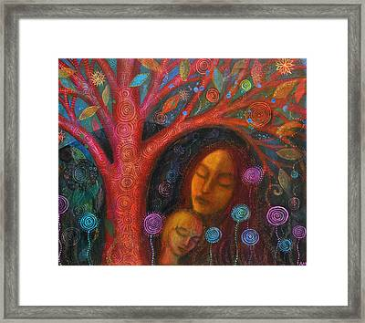 Mother Child Tree Framed Print by Alice Mason