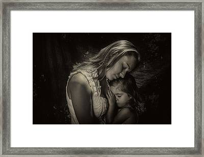 Mother Daughter Framed Print by Kevin Cable