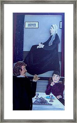 Mother... Dinner Is Getting Cold Framed Print by Richard  Hubal