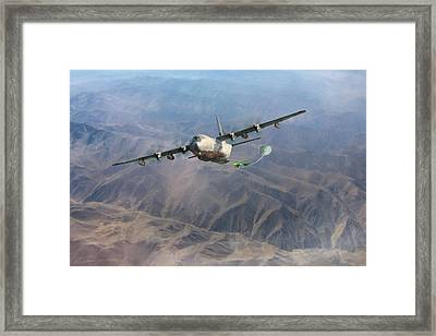 Framed Print featuring the digital art Mother Do You Think They Will Drop The Bomb by Peter Chilelli
