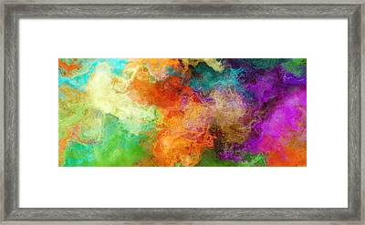Mother Earth - Abstract Art Framed Print by Jaison Cianelli