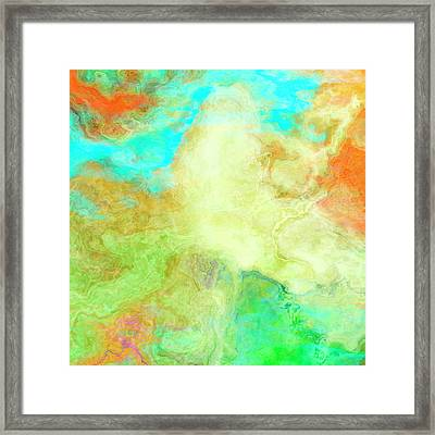 Mother Earth - Abstract Art - Triptych 1 Of 3 Framed Print