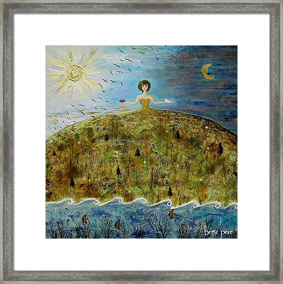 Mother Earth Framed Print by Denise Peat