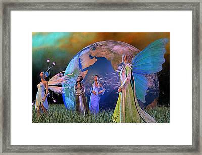 Mother Earth Series Plate5 Framed Print by Betsy Knapp