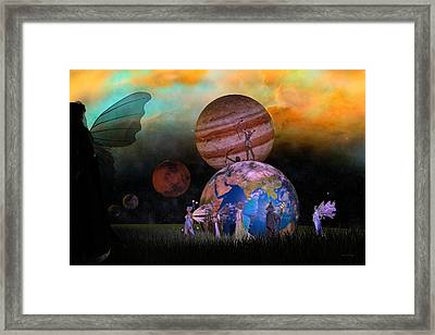 Mother Earth Series Plate6 Framed Print by Betsy Knapp