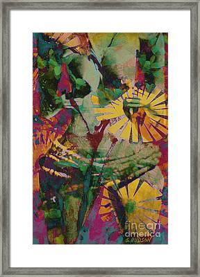 mother fertility goddess - Flower Goddess II Framed Print