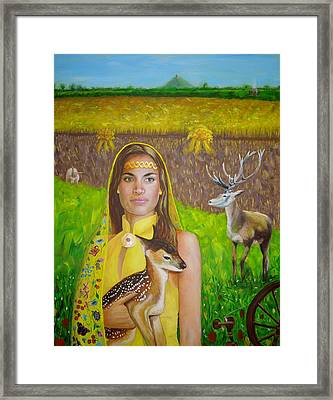 Mother Goddess Ker - Lammas Framed Print