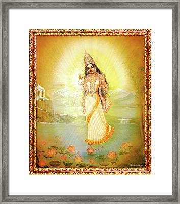 Mother Goddess Lalitha Framed Print