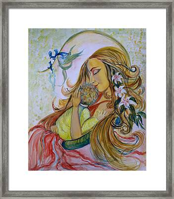 Mother Goddess Framed Print by Sarabjit Singh