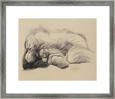 Mother Love Framed Print by Albert Casson