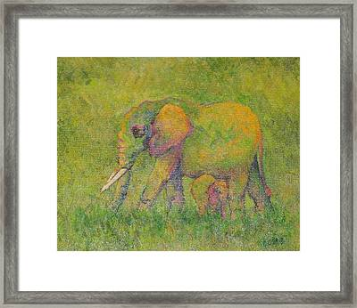 Mother Love  Framed Print by Lore Rossi