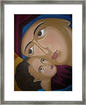 Mother-love Framed Print by Marinella Owens