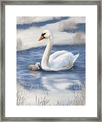 Framed Print featuring the painting Mother Love by Veronica Minozzi