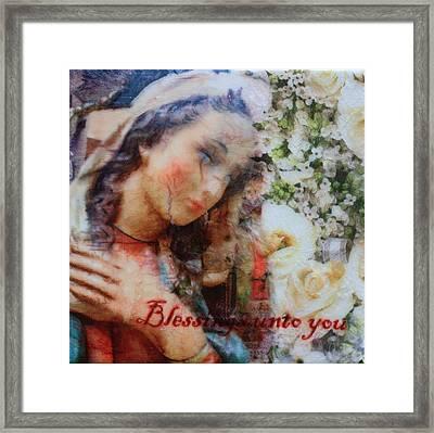 Mother Mary Blessing Framed Print