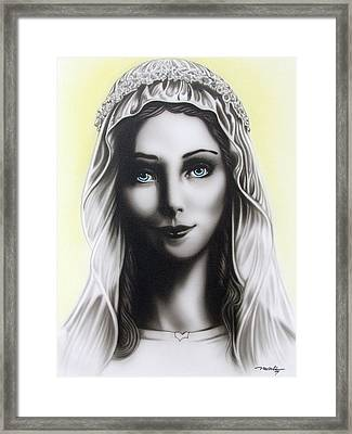 Mother Mary Framed Print by Dan Menta