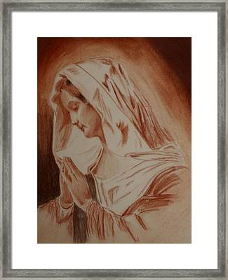 Mother Mary Framed Print by Mike Hinojosa