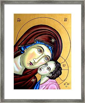 Mother Mary Framed Print by Murali