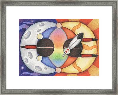 Mother Moon  Father Sun Framed Print by Amy S Turner