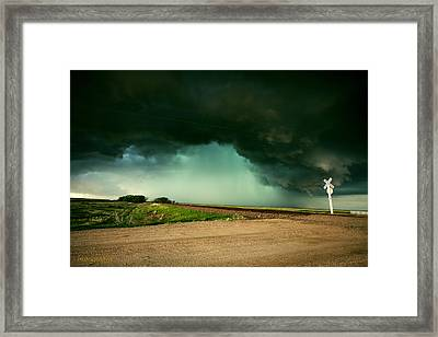 Mother Nature Arrives By Rail Framed Print by Brian Gustafson