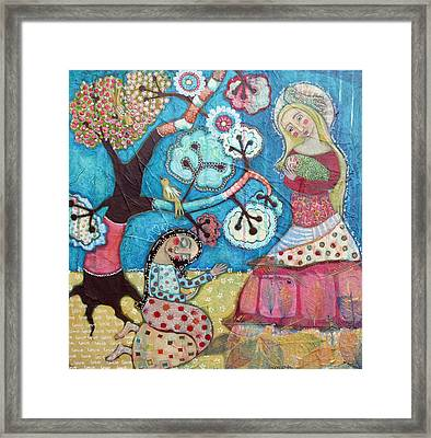 Mother Nature Baby Sweetpea And Mother To Be Framed Print by Julie-ann Bowden