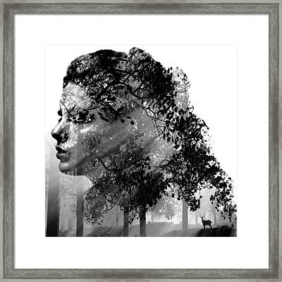 Mother Nature Black And White Framed Print by Marian Voicu