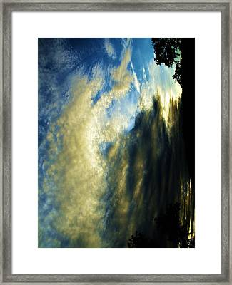 Mother Nature In Clouds Framed Print by SeVen Sumet