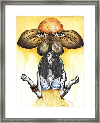 Mother Nature Ix Framed Print by Anthony Burks Sr