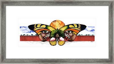 Mother Nature Vi Framed Print by Anthony Burks Sr