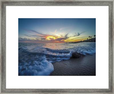 Mother Natures Fireworks Framed Print by Sean Foster