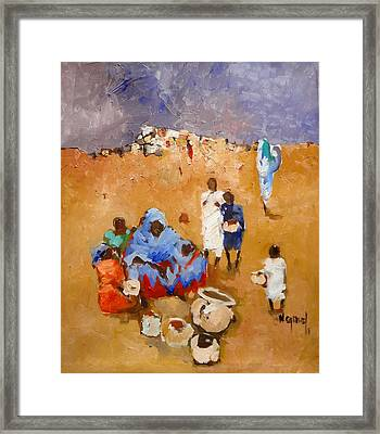 Mother  Framed Print by Negoud Dahab
